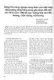 Động thái nông nghiệp - nông thôn của một vùng đồng bằng sông Hồng trong giai đoạn đổi mới kinh tế từ năm 1980 đến nay: Trường hợp xã Cẩm Hoàng, Cẩm Giàng, Hải Dương