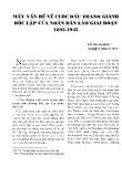 Mấy vấn đề về cuộc đấu tranh giành độc lập của nhân dân Lào giai đoạn 1893-1945