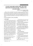 Áp dụng thang điểm Scorten trong tiên lượng bệnh nhân hội chứng Stvevens - Johnson, Lyell do dị ứng thuốc