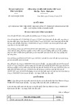 Quyết định số 08/2019/QĐ-UBND tỉnh NamĐịnh
