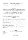 Quyết định số 587/QĐ-CTN