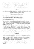 Quyết định số 15/2019/QĐ-UBND tỉnh HàTĩnh