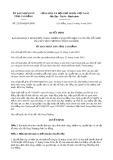 Quyết định số 22/2019/QĐ-UBND tỉnh CaoBằng