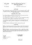 Quyết định số 320/2019/QĐ-BTC