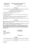 Quyết định số 320/2019/QĐ-UBND tỉnh LaiChâu