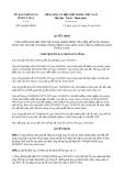 Quyết định số 438/2019/QĐ-UBND tỉnh CàMau