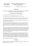 Quyết định số 14/2019/QĐ-UBND tỉnh CaoBằng