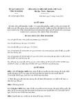 Quyết định số 14/2019/QĐ-UBND tỉnh NinhBình