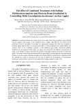The effect of combined treatment with sodium dichloroisocyanurate and electron beam irradiation in controlling mold (Lasiodiplodia theobromae) on star apples