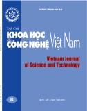 Tạp chí Khoa học và Công nghệ Việt Nam – Số 1B năm 2019