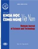 Tạp chí Khoa học và Công nghệ Việt Nam số 4B năm 2019