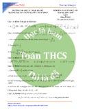 Đề kiểm tra giữa HK1 môn Toán 9 năm 2018-2019 có đáp án - Trường THCS&THPT Nguyễn Tất Thành