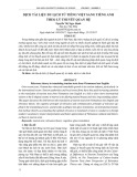 Dịch tài liệu du lịch từ tiếng Việt sang tiếng Anh theo lý thuyết quan hệ