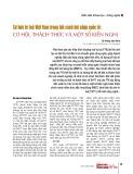 Sở hữu trí tuệ Việt Nam trong bối cảnh hội nhập quốc tế: Cơ hội, thách thức và một số kiến nghị