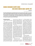 Kinh nghiệm xuất bản bài báo khoa học quốc tế