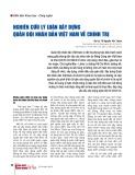 Nghiên cứu lý luận xây dựng Quân đội nhân dân Việt Nam về chính trị