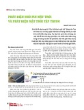Phát điện nhờ pin mặt trời và phát điện mặt trời tập trung