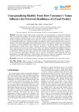 Conceptualizing healthy food: How consumer's values influence the perceived healthiness of a food product