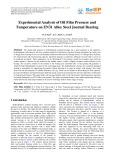Experimental analysis of oil film pressure and temperature on EN31 alloy steel journal bearing