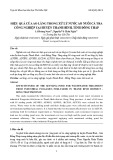 Hiệu quả của ao lắng trong xử lý nước ao nuôi cá tra công nghiệp tại huyện Thanh Bình, tỉnh Đồng Tháp