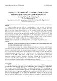 Khảo sát các thông số vận hành của phản ứng Fenton/ôzon trong xử lý nước thải y tế