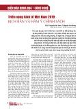 Triển vọng kinh tế Việt Nam 2019: Kịch bản và hàm ý chính sách