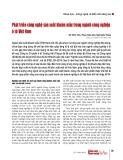 Phát triển công nghệ sản xuất khuôn mẫu trong ngành công nghiệp ô tô Việt Nam