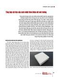 Tổng hợp vật liệu xốp cách nhiệt thân thiện với môi trường