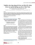 Nghiên cứu ứng dụng hệ lan can liên kết chìm trên các tuyến đường cao tốc ở Việt Nam