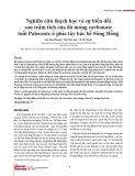 Nghiên cứu thạch học và sự biến đổi sau trầm tích của đá móng carbonate tuổi Paleozoic ở phía tây bắc bể Sông Hồng