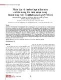 Phân lập và tuyển chọn nấm men có khả năng lên men rượu vang thanh long ruột đỏ (Hylocereus polyrhizus)