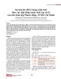 Sự tích lũy BPA trong trầm tích khu vực tiếp nhận nước thải sau xử lý của bãi chôn lấp Phước Hiệp, TP Hồ Chí Minh