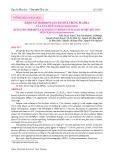 Khảo sát hormone β-ecdysone trong plasma của cua lột (Scylla paramamosain)
