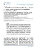 A FCGR3A polymorphism predicts anti-drug antibodies in chronic inflammatory bowel disease patients treated with anti-TNF