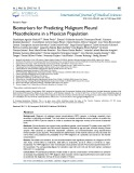 Biomarkers for predicting malignant pleural mesothelioma in a Mexican population