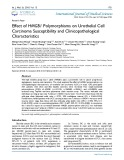 Effect of HMGB1 polymorphisms on urothelial cell carcinoma susceptibility and clinicopathological characteristi