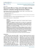 Bactericidal effects of deep ultraviolet light-emitting diode for solutions during intravenous infusion
