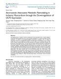 Atorvastatin attenuates metabolic remodeling in ischemic myocardium through the downregulation of UCP2 expression