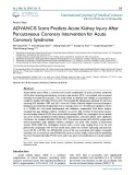 ADVANCIS score predicts acute kidney injury after percutaneous coronary intervention for acute coronary syndrome