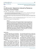 Cardiovascular adaptations induced by resistance training in animal models
