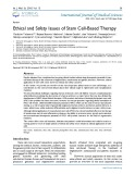 Ethical and safety issues of stem cell based therapy