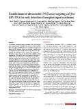 Establishment of ultrasensitive PCR assay targeting cell-free EBV DNA for early detection of nasopharyngeal carcinoma