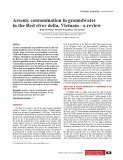 Arsenic contamination in groundwater in the Red river delta, Vietnam - A review