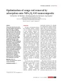 Optimization of congo red removal by adsorption onto NiFe2 O4 /GO nanocomposite