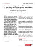 Determination of aquaculture distribution by using remote sensing technology in Thanh Phu district, Ben Tre province, Vietnam