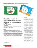 Promising results of application-oriented basic research on nanomedicine in Vietnam