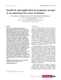 Synthesis and application of graphene aerogel as an adsorbent for water treatment
