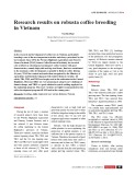 Research results on robusta coffee breeding in Vietnam