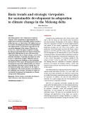 Basic trends and strategic viewpoints for sustainable development in adaptation to climate change in the Mekong delta