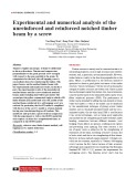Experimental and numerical analysis of the unreinforced and reinforced notched timber beam by a screw